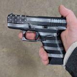 glock 43 black white flag