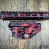 red battleworn cerakote