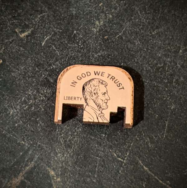 copper glock abe lincoln backplate