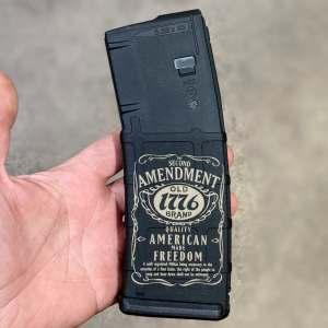 Jack daniels 2nd amendment lasered pmag