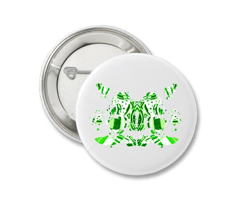 Button - Green Ink 1