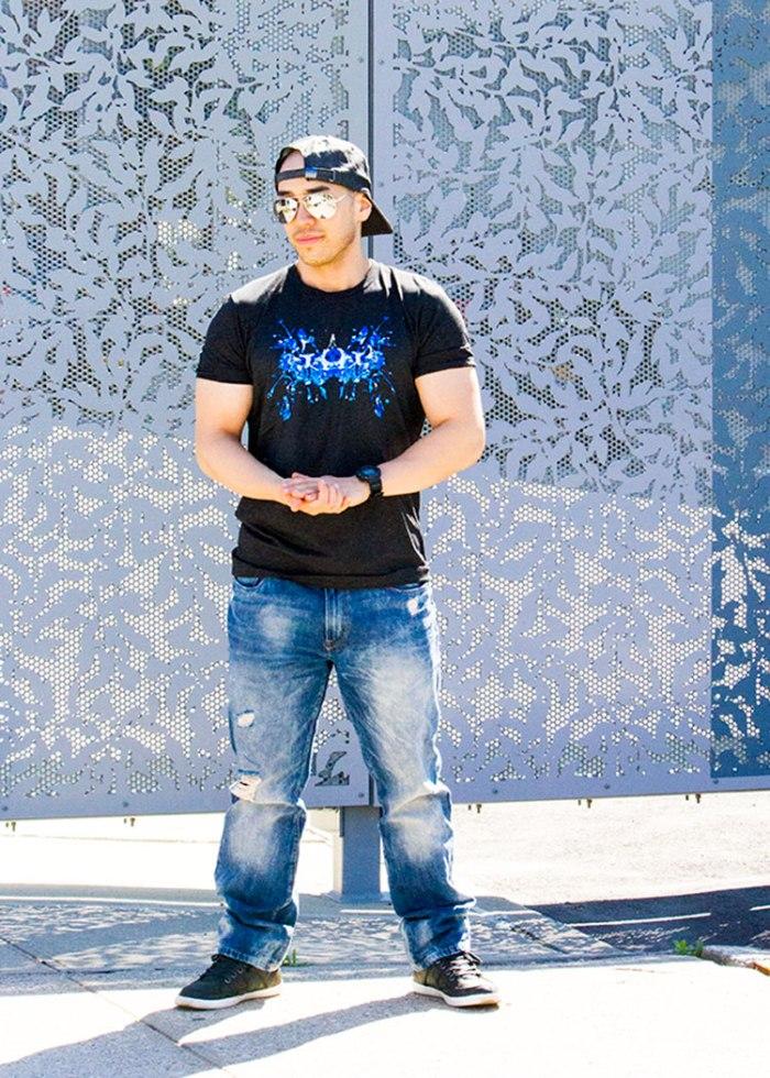 Black Blue Ink T-Shirt 1