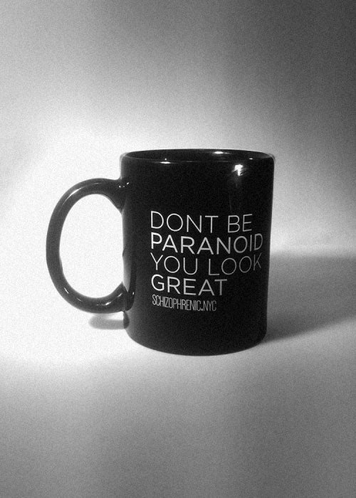 Don't be paranoid, you look great - mug 2
