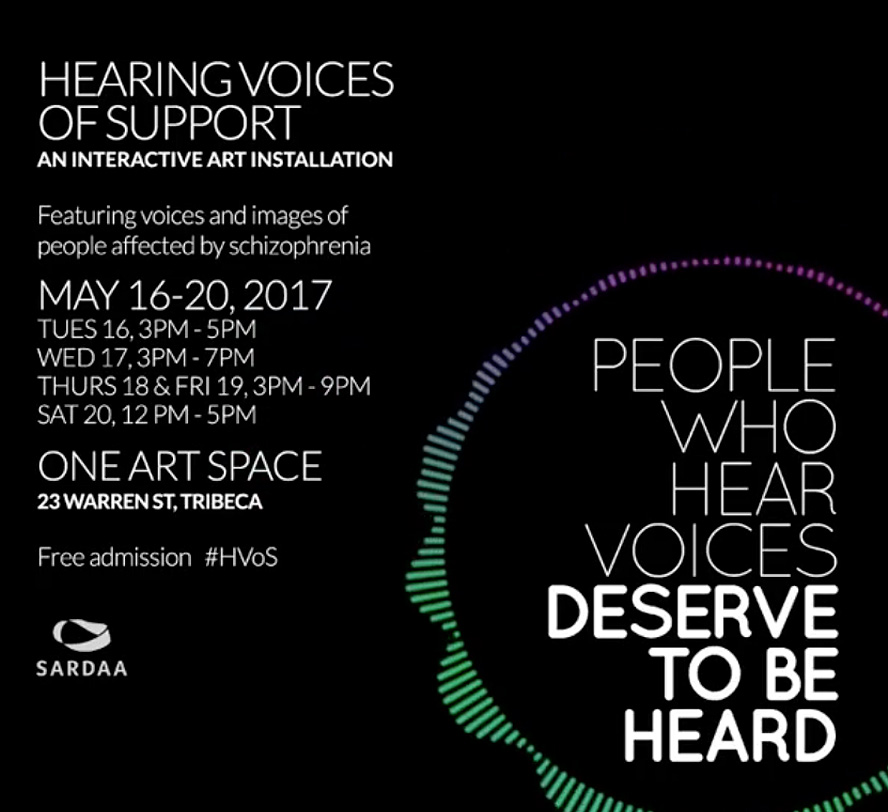 Schizophrenic. Nyc will be selling art at hearing voices of support | may, 18 - 19 6