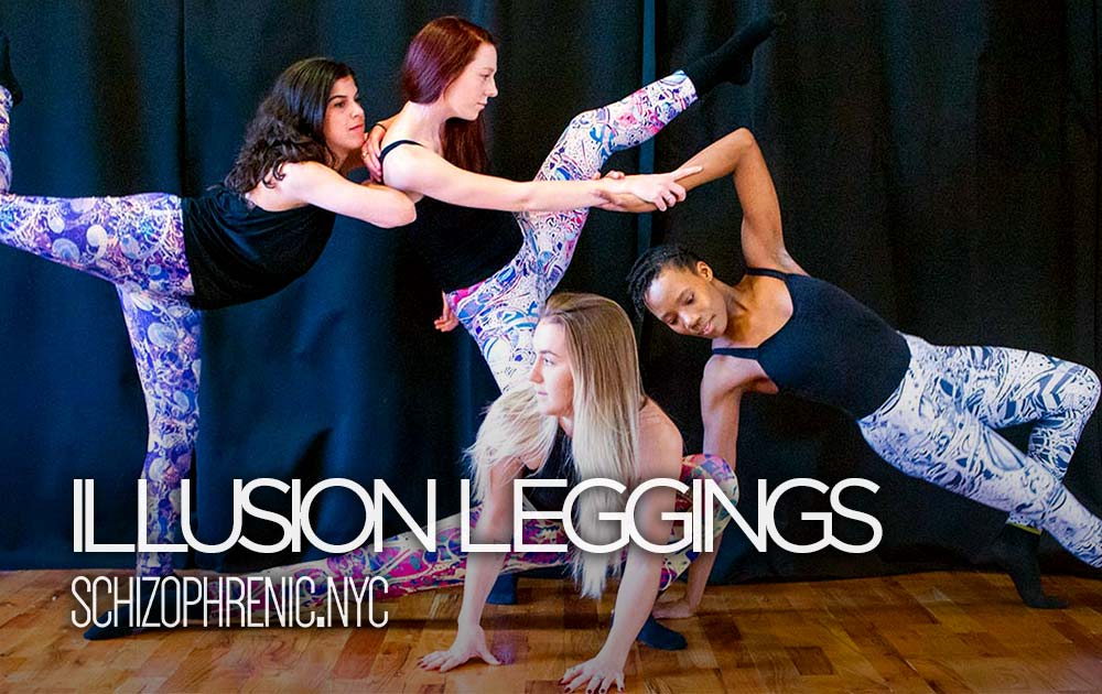 Schizophrenic. Nyc illusion leggings now available 84