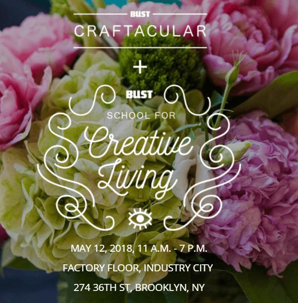 We will be at bust craftacular saturday, may 12th 1