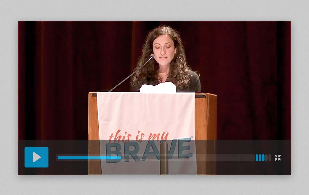 """Speech about living with and """"recovering"""" from schizophrenia at this is my brave - nyc 31"""