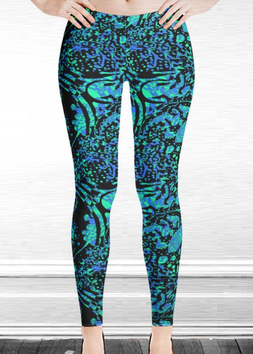 "Michelle's ""silence"" print leggings 2"