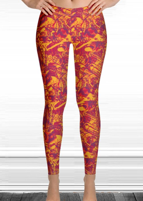 "Michelle's ""falling"" print leggings 5"