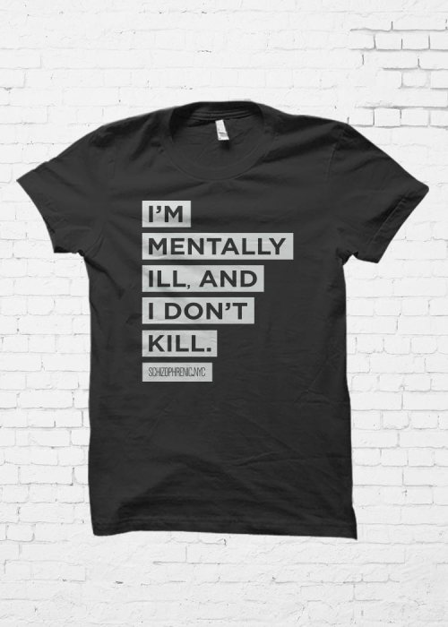 "Protest for mental health ""i'm mentally ill, and i don't kill"" went great! 12"