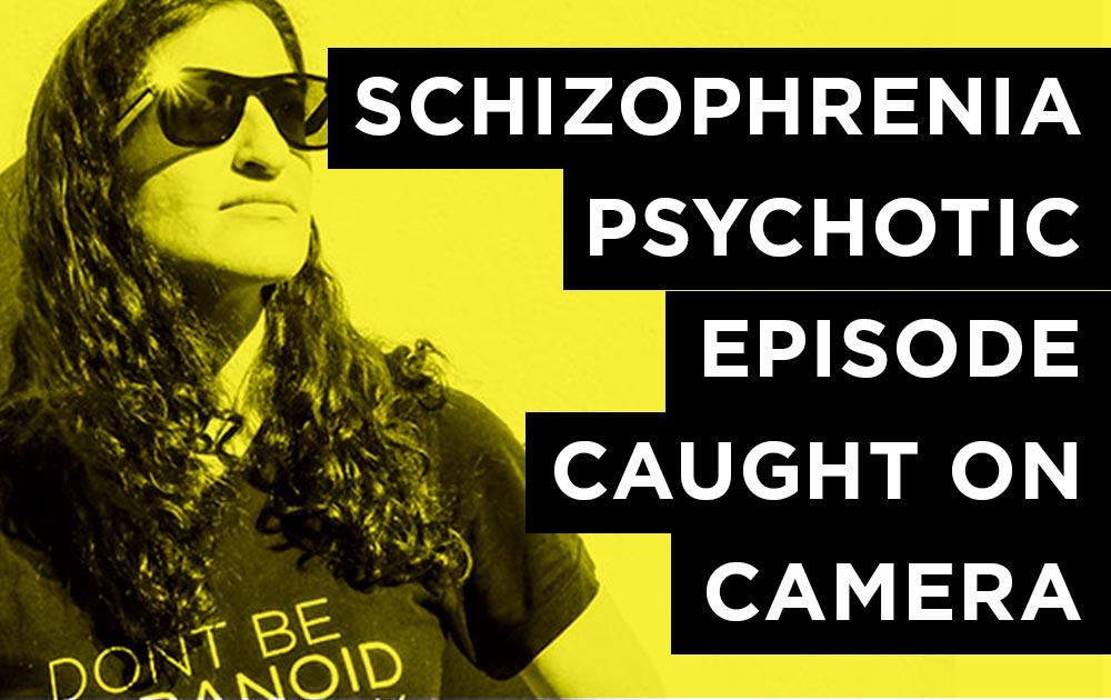 Schizophrenia episode caught on security camera.