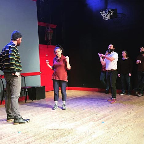 Michelle performed at the peoples improv theater 3