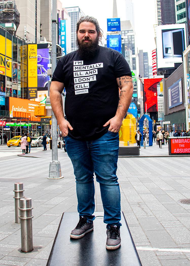 I'm Mentally Ill And I Don't Kill T-Shirt by Schizophrenic.NYC