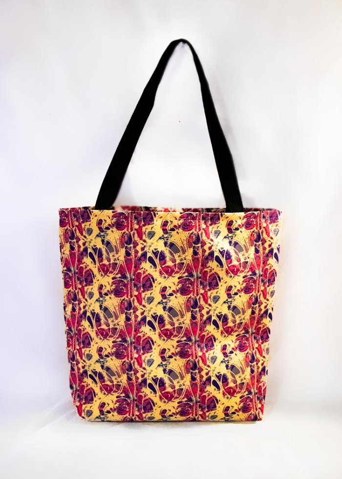 'Chlorine' stye tote bag by Schizophrenic.NYC