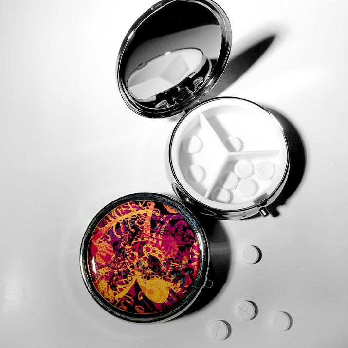 'sharp' pillbox by schizophrenic. Nyc