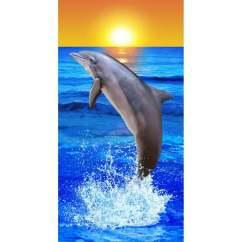 Tempur Sofa Violet Bed Strandtuch Delfin Mit Sonne   Strandtücher Wohnen ...