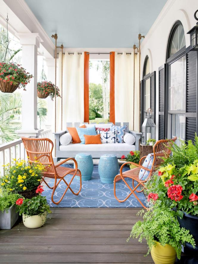 Back To Front Porch Decorating Ideas Design