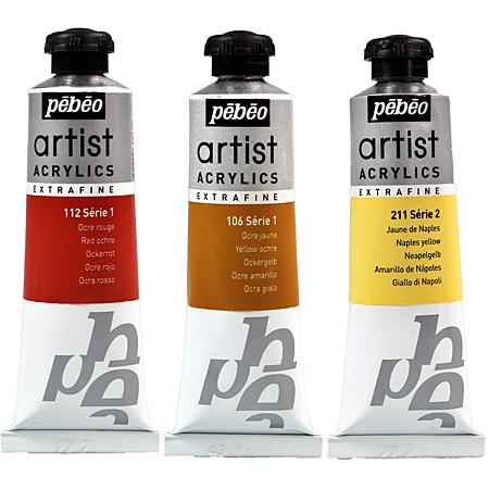 pebeo artist acrylics acrylique extra