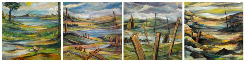 The Flood Cycle (4 paintings) Michael Schliefke