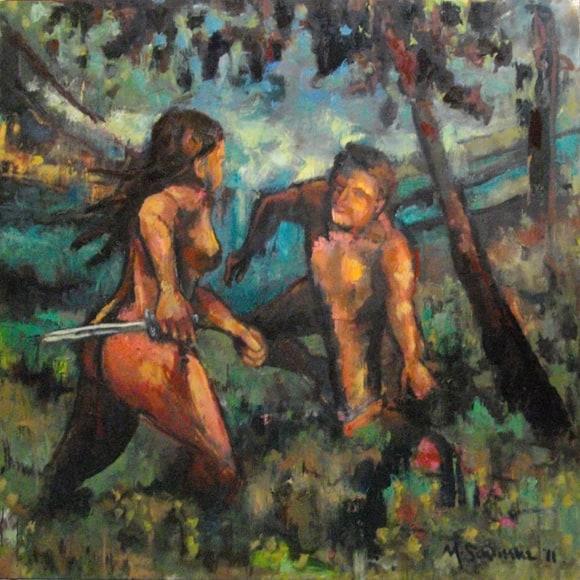 The Bridesmaid - oil on canvas - Michael Schliefke