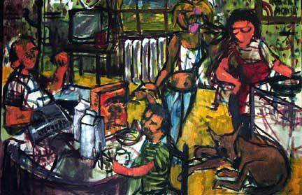 September Morn oil on canvas