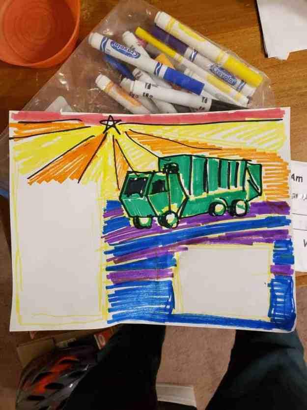 kids mural sketch
