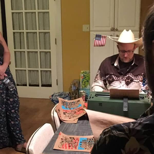 Typewriter Rodeo Clown Poet