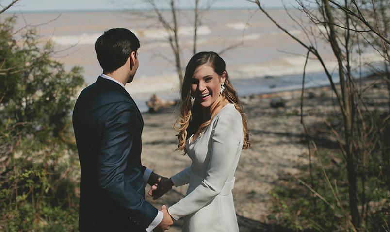 Spring Wedding Schlitz Audubon Lake Michigan