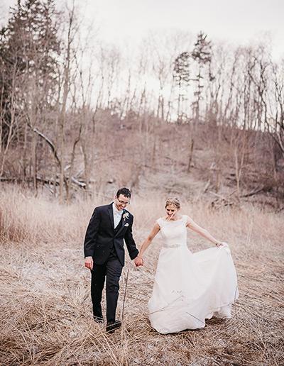 Winter Wedding Schlitz Audubon Trail