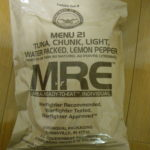 2019年検品:MRE メニューNO21 TUNA CHUNK LIGHT WATER PACKED LEMON PEPPER