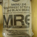 2019年検品:MRE メニューNO24 SOUTHWEST STYLE BEEF AND BLACK BEANS