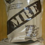 2019年検品:MRE メニューNO4  SPAGHETTI WITH BEEF AND SAUCE