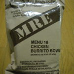 2020年検品:MRE メニューNO16 CHICKEN BURRITO BOWL