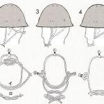 日本軍の鉄帽の顎紐の結び方まとめ