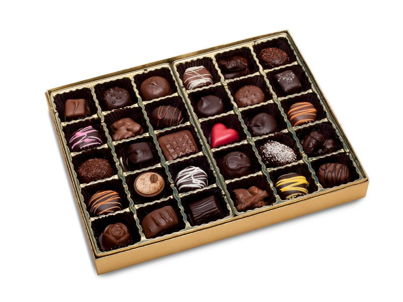 Nuts and Chews Chocolate Box