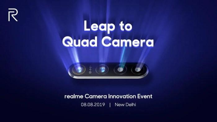 Realme 64 MP-Quad-Kamera Teaser Twitter