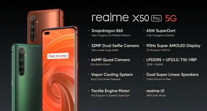 Realme X50 Pro 5G Spezifikationen
