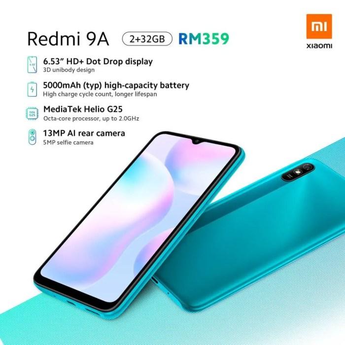 Redmi 9A Spezifikationen