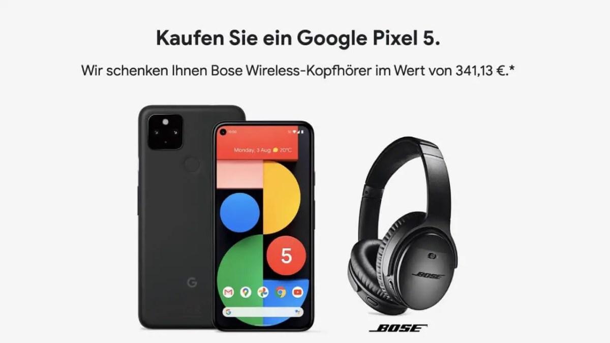 Google Pixel 5 Bose Kopfhörer