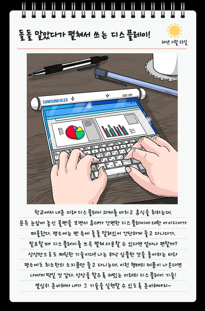 Samsung rollbares Display