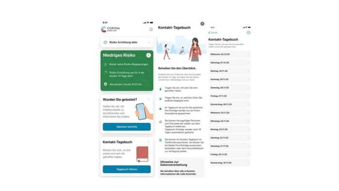 Corona-Warn-App Version 1.10 Kontakt-Tagebuch