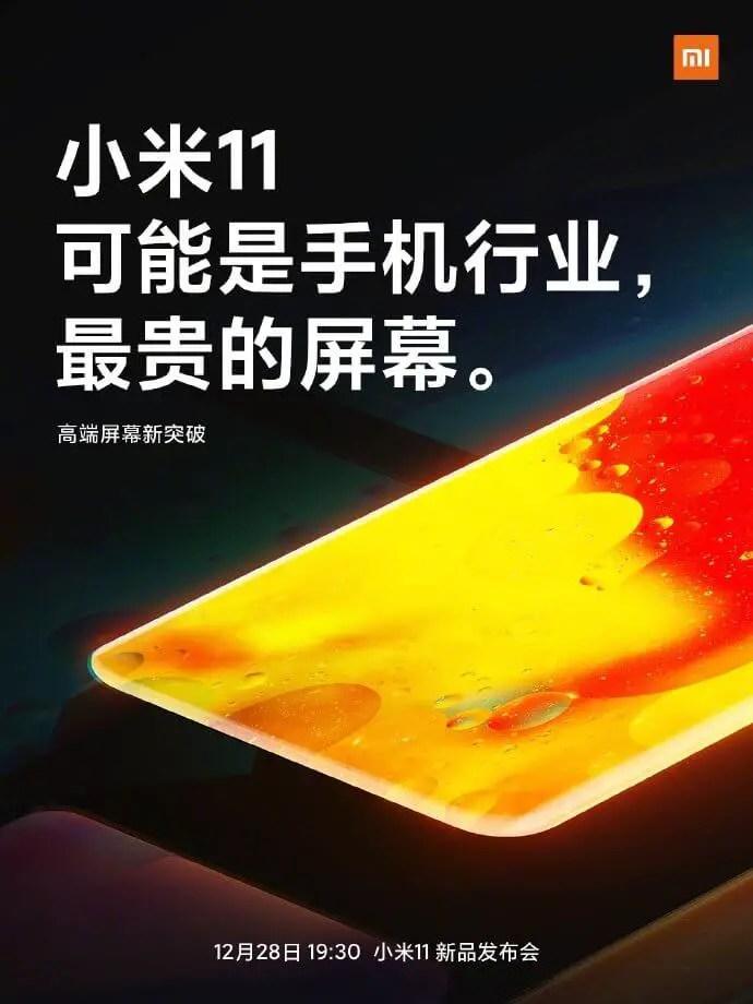 Xiaomi Mi 11 Display-Teaser
