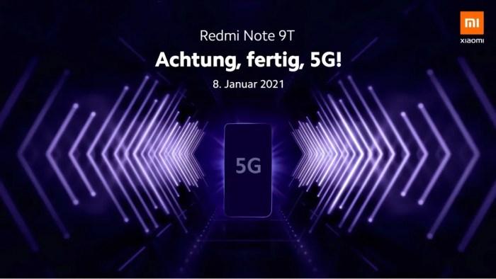 Redmi Note 9T Teaser