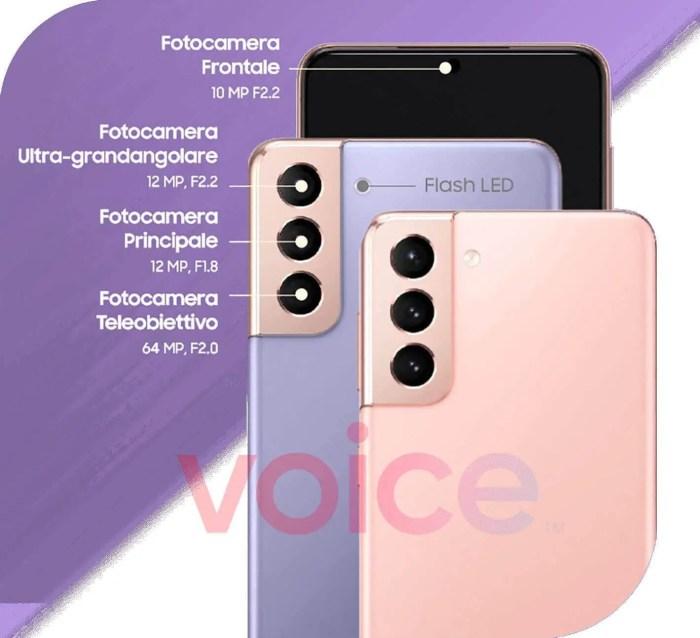 Samsung Galaxy S21 und Galaxy S21+ Kamera-Specs