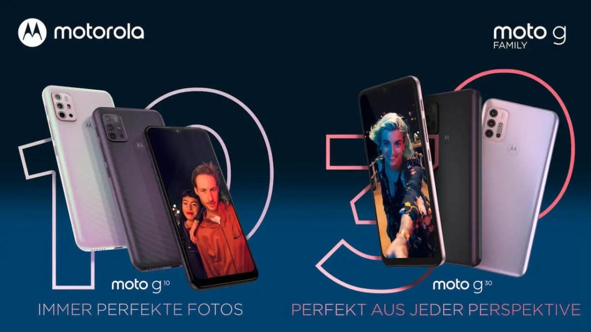 Motorola Moto G10 und Moto G30