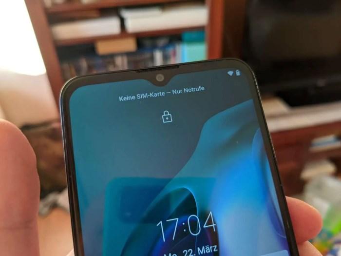 Motorola Moto G30 Notch