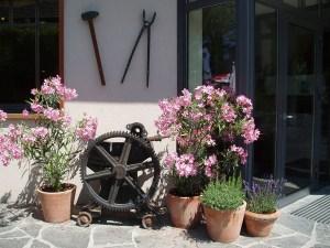 Eingangsbereich im Sommer