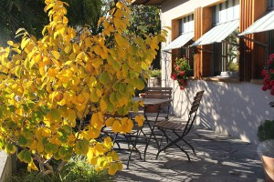 Terrasse im Herbst