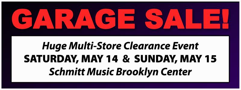 Garage Sale Clearance Event at Schmitt Music Brooklyn Center  Schmitt Music
