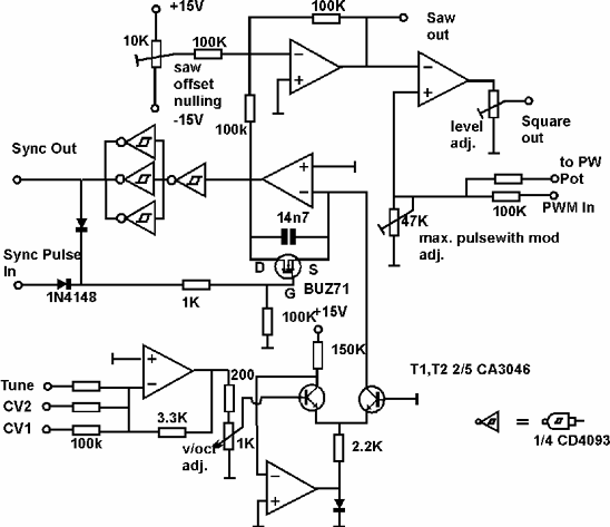 Synth schematics--::--VCO 1 and 2